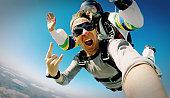 Skydive tandem selfie photo effect