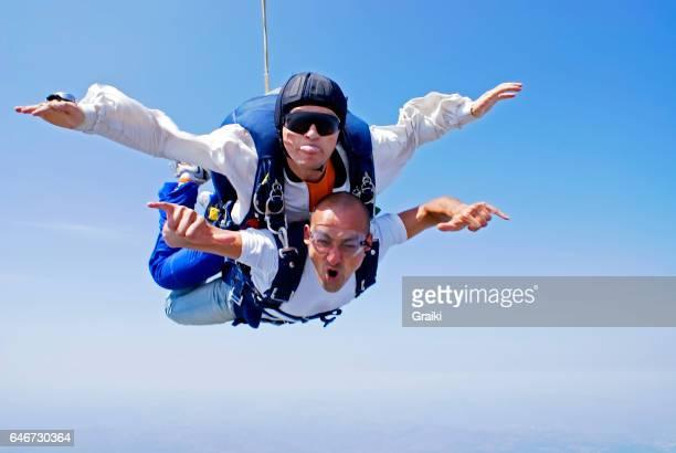 Skydive tandem shouting