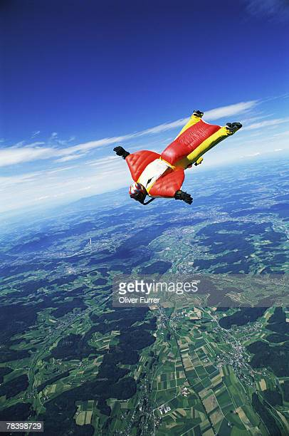 Skydiver free-falling