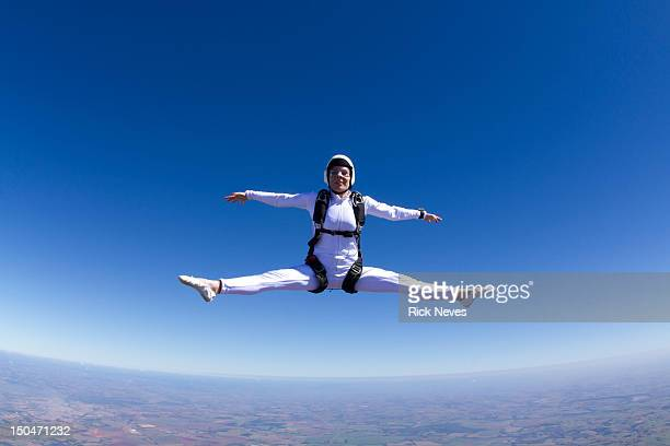 Skydiver in freestyle