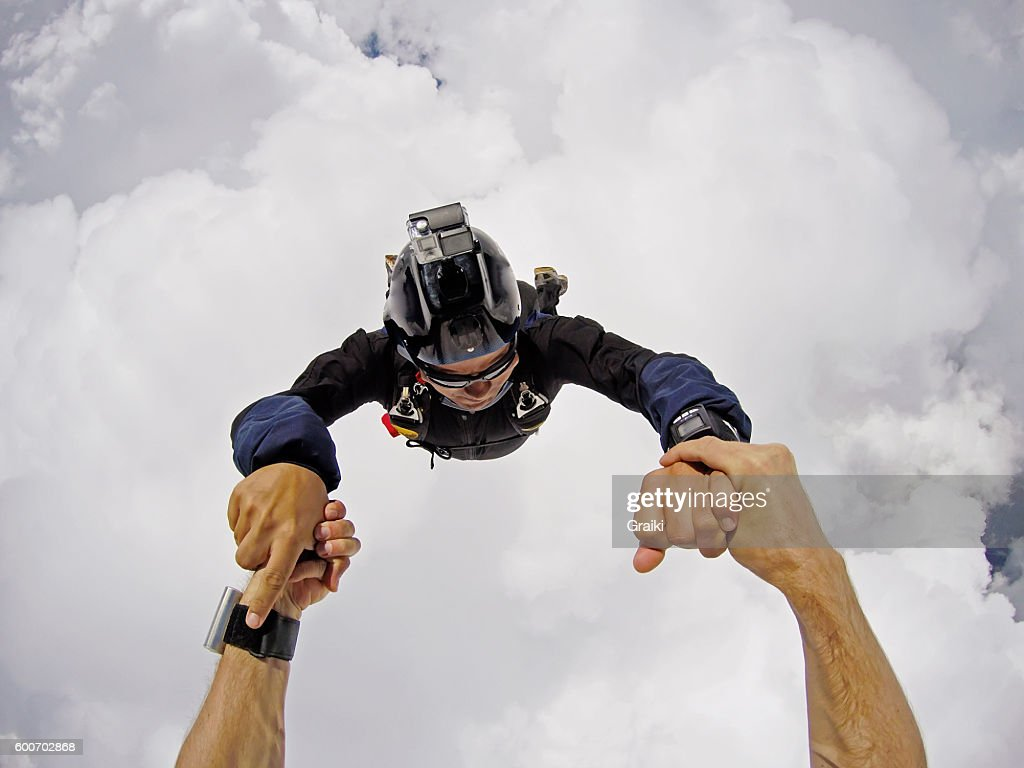 Skydivers Inside The Clouds Pov Stock Photo  Getty Images-5669