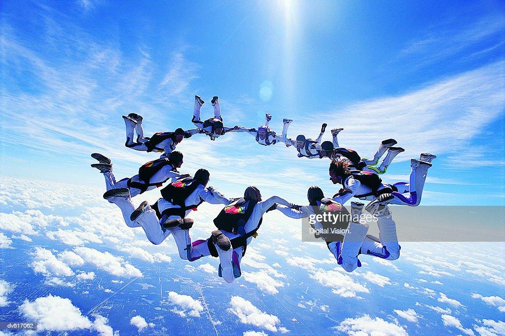 Skydiving : Bildbanksbilder