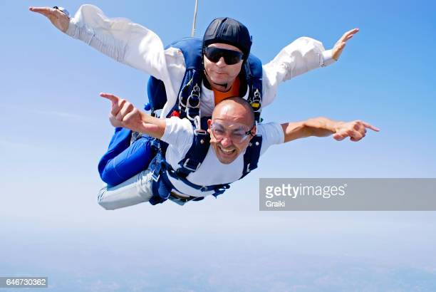 Skydiving tandem enjoyment