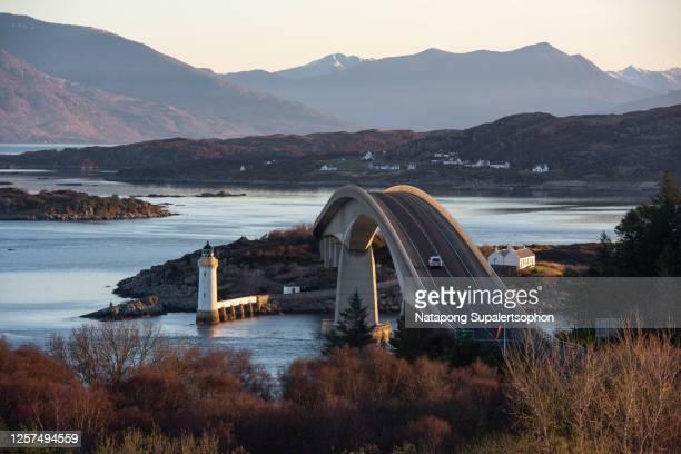 skye bridge of isle of skye - western isles stock pictures, royalty-free photos & images