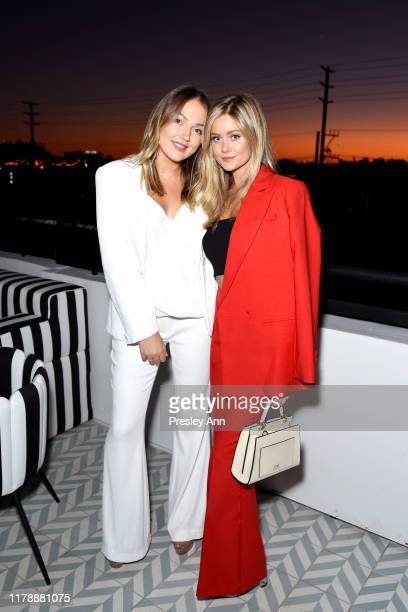 Skye Chandler and Hannah Godwin attends the Box of Style By Rachel Zoe Female Founders Dinner at The AllBright West Hollywood on October 03 2019 in...