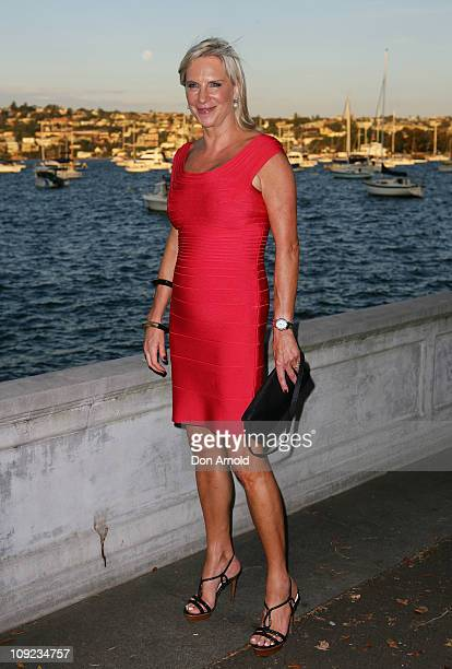 Skye Leckie arrives at the Rose Bay Flood Relief dinner for victims of Australia's recent floods on February 17 2011 in Sydney Australia
