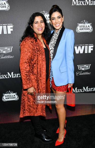 Skye P Marshall and Stephanie Beatriz attend 13th Annual Women In Film Female Oscar Nominees Party at Sunset Room Hollywood on February 07 2020 in...