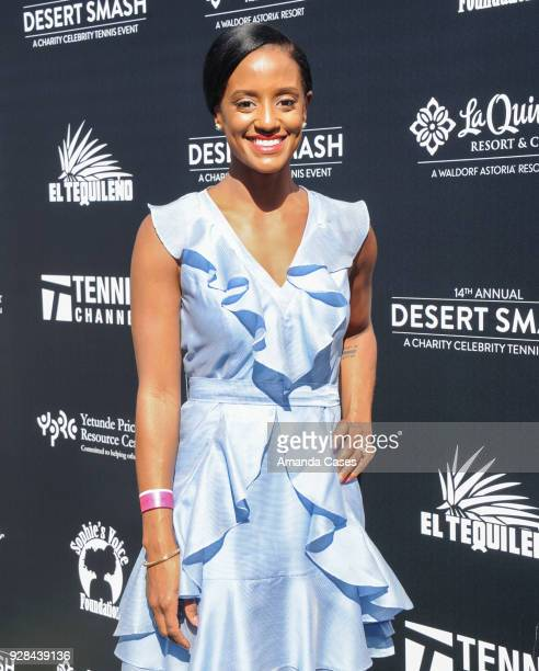 Skye P Marshall arrives at The 14th Annual Desert Smash Celebrity Tennis Event on March 6 2018 in La Quinta California