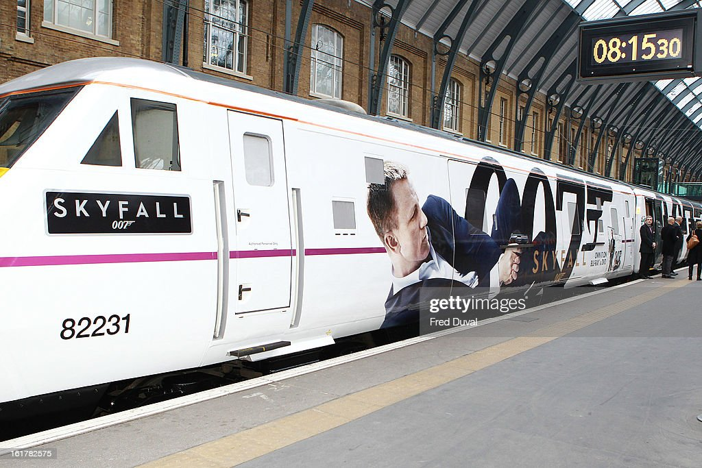 Skyfall Train at Kings Cross Station on February 16, 2013 in London
