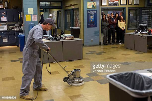 NINE 'Skyfire Cycle' Episode 406 Pictured Terry Crew as Terry Jeffords Melissa Fumero as Amy Santiago Joe Lo Truglio as Charles Boyle Andy Samberg as...