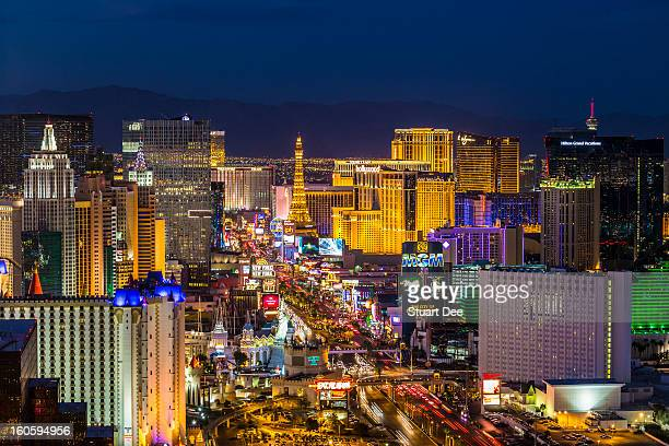 Skyine at twilight, Las Vegas, USA