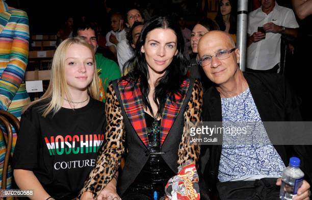 Skyla Sanders Liberty Ross and Jimmy Iovine attend the Moschino Spring/Summer 19 Menswear and Women's Resort Collection at Los Angeles Equestrian...