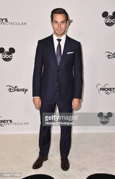 Skylar Astin attends Mickey's 90th Spectacular at The Shrine Auditorium on October 6 2018 in Los Angeles California