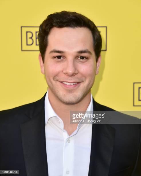 Skylar Astin attends the Pasadena Playhouse Presents Opening Night Of Belleville at Pasadena Playhouse on April 22 2018 in Pasadena California