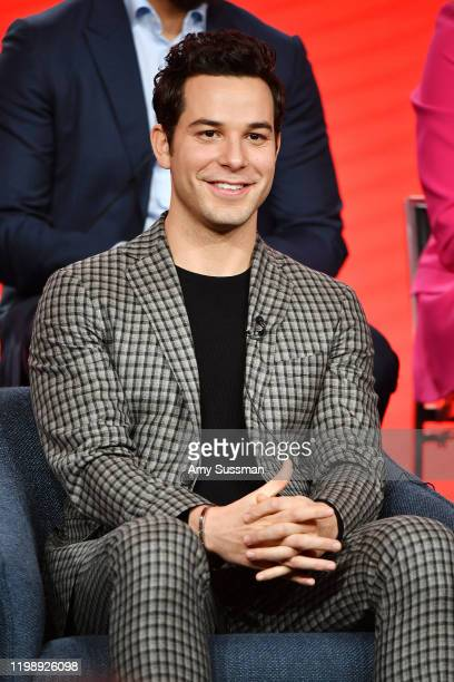 Skylar Astin of Zoey's Extrodinary Playlist speaks during the NBCUniversal segment of the 2020 Winter TCA Press Tour at The Langham Huntington...