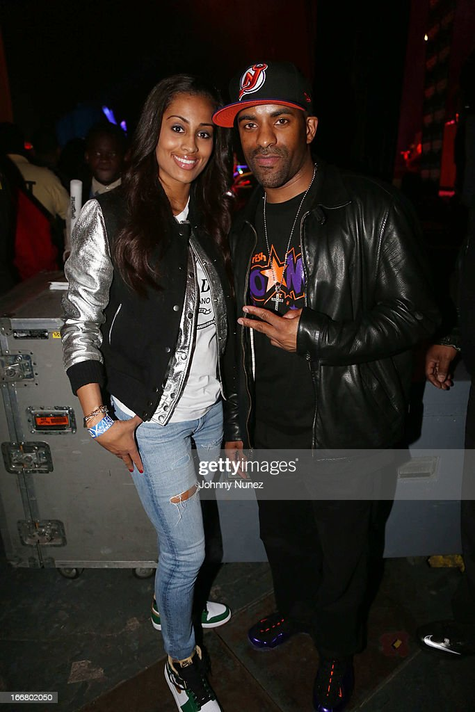 Skylar Diggins and DJ Clue attend the 2nd Annual DJ Prostyle's Birthday Bash at Hammerstein Ballroom on April 16, 2013 in New York City.