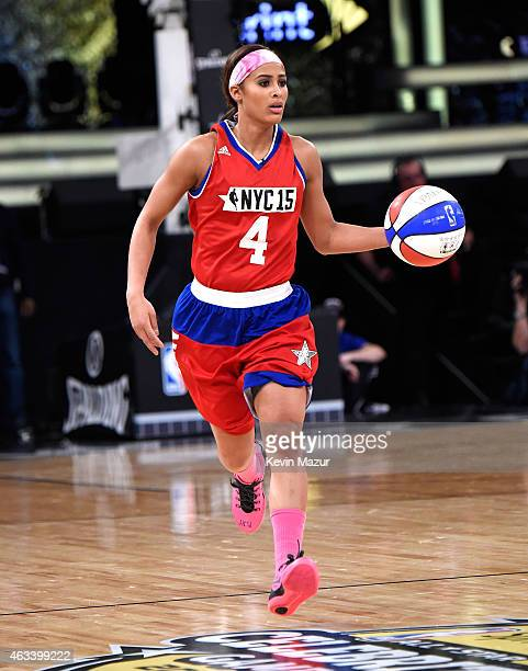 Skylar Diggins attends the NBA AllStar Celebrity Game at Madison Square Garden on February 13 2015 in New York City