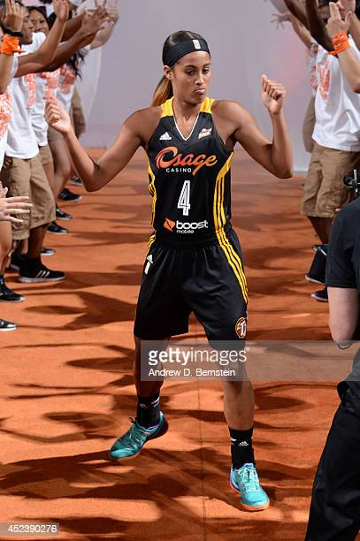 Skylar Diggins of the Western Conference AllStars is introduced before the 2014 Boost Mobile WNBA AllStar Game on July 19 2014 at US Airways Center...