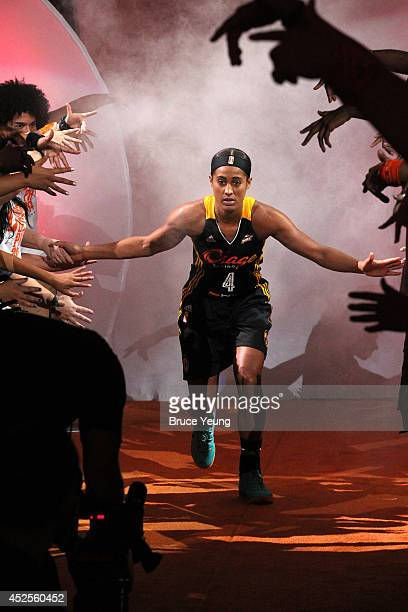 Skylar Diggins of the Western Conference AllStars is introduced during the 2014 Boost Mobile WNBA AllStar Game on July 19 2014 at US Airways Center...