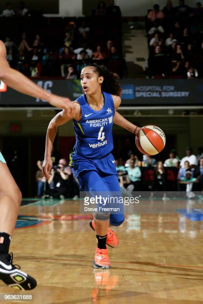 Skylar DigginsSmith of the Dallas Wings handles the ball against the New  York Liberty on May b9573cb83