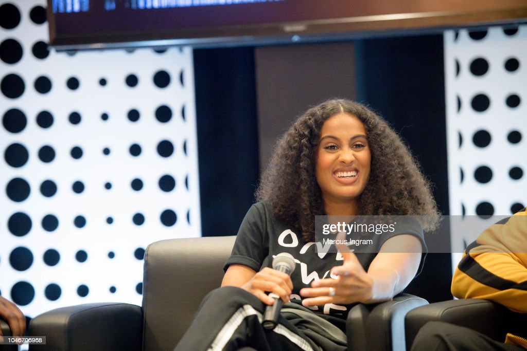 Skylar Diggins-Smith speaks on stage during the Q A Puma  Reform ... 05bcd160c