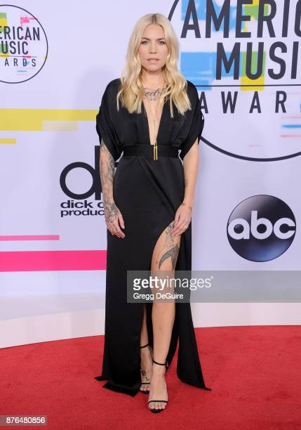 Skylar Grey arrives at the 2017 American Music Awards at Microsoft Theater on November 19 2017 in Los Angeles California