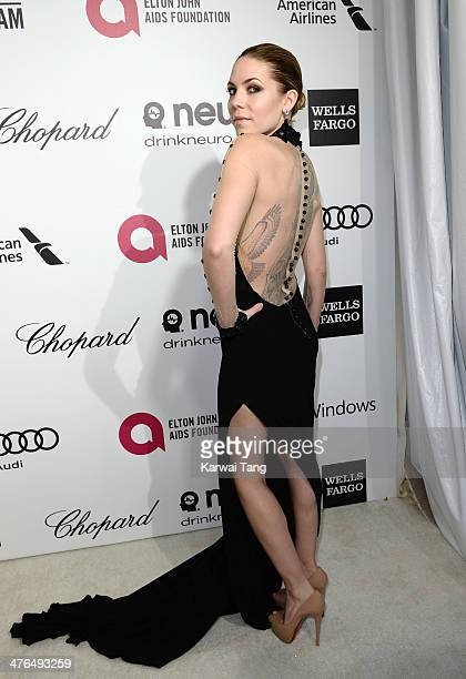 Skylar Grey arrives for the 22nd Annual Elton John AIDS Foundation's Oscar Viewing Party held at West Hollywood Park on March 2 2014 in West...