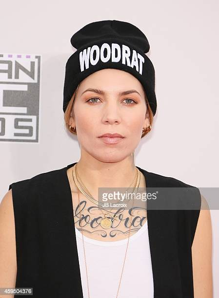 Skylar Grey attends the 2014 American Music Awards at Nokia Theatre LA Live on November 23 2014 in Los Angeles California