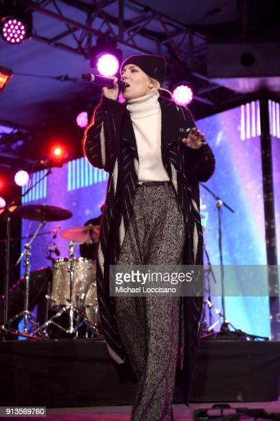 Skylar Grey performs on the Verizon Up Stage at Super Bowl LIVE presented by Verizon on February 2 2018 in Minneapolis Minnesota