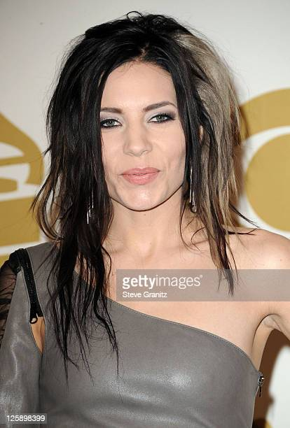 Skylar Grey poses in the press room at The 53rd Annual GRAMMY Awards held at Staples Center on February 13 2011 in Los Angeles California