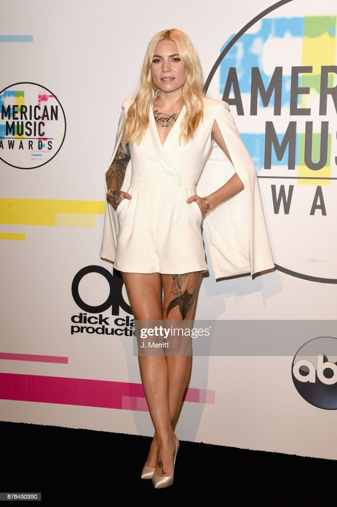 Skylar Grey poses in the press room during 2017 American Music Awards at Microsoft Theater on November 19, 2017 in Los Angeles, California.