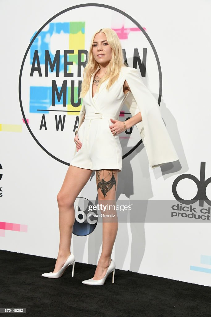 Skylar Grey poses in the press room during the 2017 American Music Awards at Microsoft Theater on November 19, 2017 in Los Angeles, California.