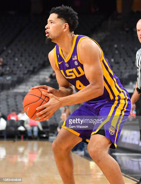 Skylar Mays of the LSU Tigers looks to shoot against the Saint Mary's Gaels during their game at TMobile Arena on December 15 2018 in Las Vegas...