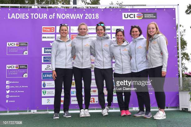 Skylar Schneider of The The United States and Boels Dolmans Cycling Team / Anna Plichta of Poland and Boels Dolmans Cycling Team / Christine Majerus...