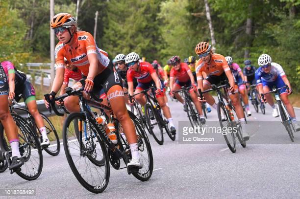 Skylar Schneider of The The United States and Boels Dolmans Cycling Team / Anna Plichta of Poland and Boels Dolmans Cycling Team / during the 4th...