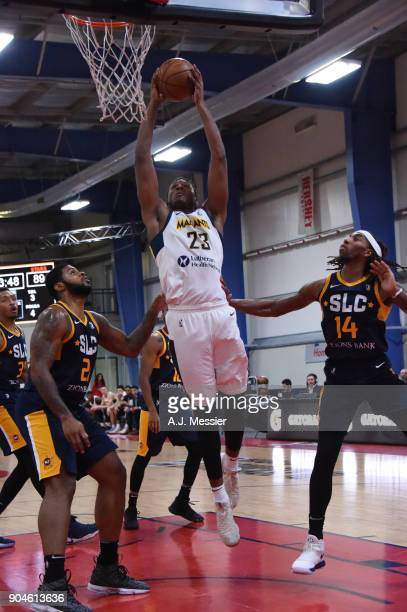 Skylar Spencer of the Fort Wayne Mad Ants handles the ball during the NBA GLeague Showcase Game 23 between the Salt Lake City Stars and the Fort...