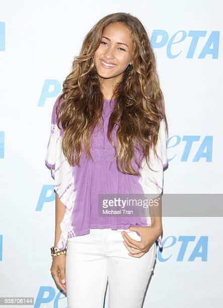 Skylar Stecker attends the Los Angeles launch event for Prince's PETA song held at PETA on June 7 2016 in Los Angeles California