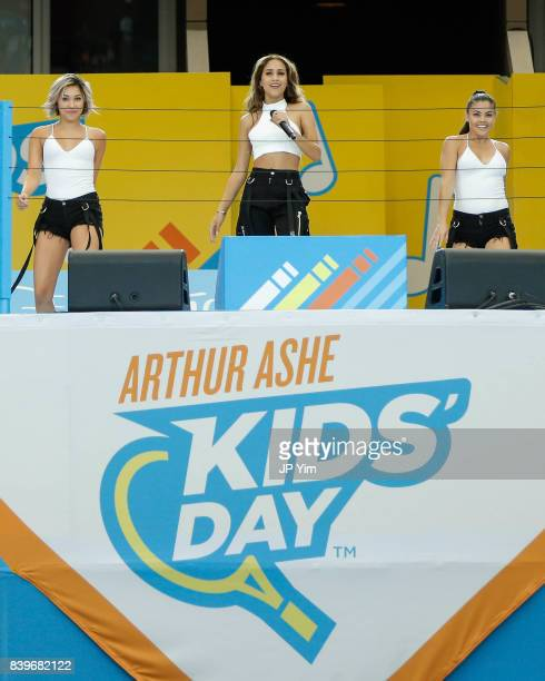 Skylar Stecker performs at the 22nd Annual Arthur Ashe Kid's Day event at the USTA Billie Jean King National Tennis Center on August 26 2017 in the...