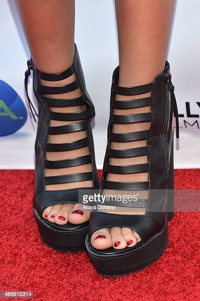 Skylar Stecker shoe detail attends the 2015 Hollywood Film Festival Opening Night Gala on September 24 2015 in Hollywood California