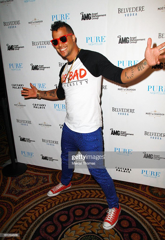 Skyler Austen Gordy AKA SkyBlu of LMFAO kicks off his monthly bash 'Who Came To Party' at Pure Nightclub on August 31, 2012 in Las Vegas, Nevada.