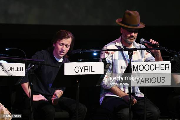 "Skyler Gisondo and Taika Waititi at the Film Independent Screening Series Presents Live Read Of ""Breaking Away"" at Wallis Annenberg Center for the..."