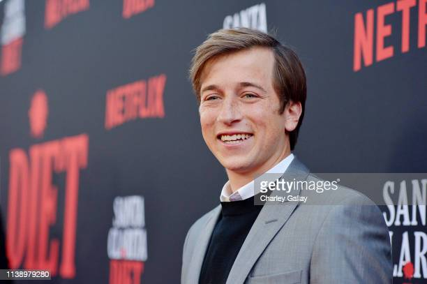 Skyler Gisondo attends Netflix Original Series Santa Clarita Diet Season 3 Los Angeles Premiere and Afterparty on March 28 2019 in Los Angeles...