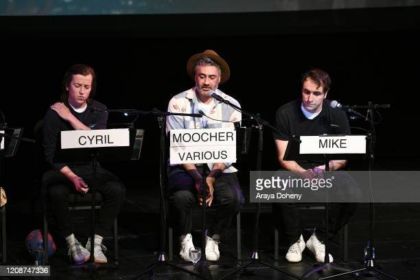 "Skyler Gisondo, Taika Waititi and Michael Covino at the Film Independent Screening Series Presents Live Read Of ""Breaking Away"" at Wallis Annenberg..."
