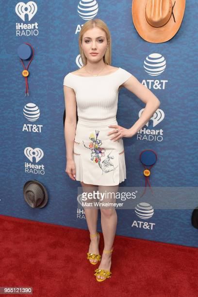 Skyler Samuels arrives at the 2018 iHeartCountry Festival By ATT at The Frank Erwin Center on May 5 2018 in Austin Texas