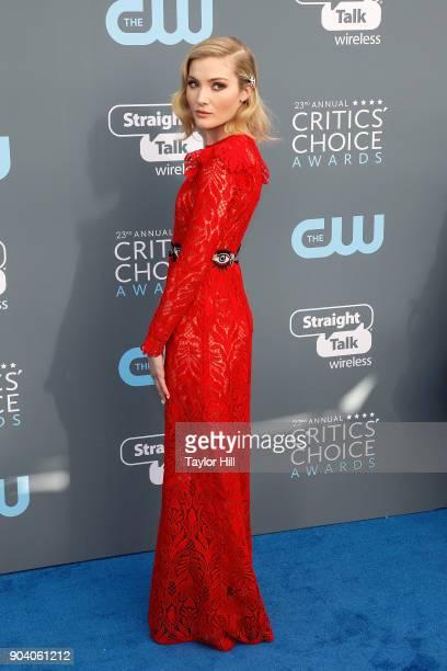 Skyler Samuels attends the 23rd Annual Critics' Choice Awards at Barker Hangar on January 11 2018 in Santa Monica California