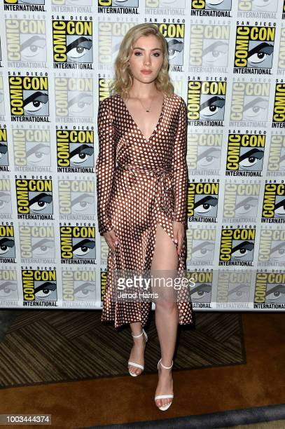 Skyler Samuels attends the 'The Gifted' Press Line during ComicCon International 2018 at Hilton Bayfront on July 21 2018 in San Diego California
