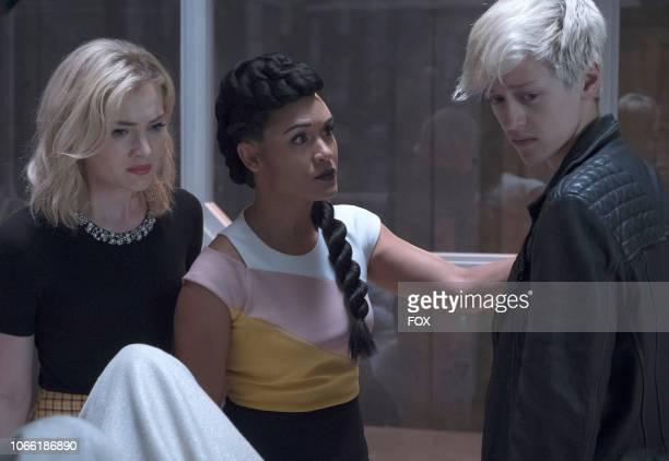 Skyler Samuels Grace Byers and Percy Hynes White in the eMergence Season Two premiere episode of THE GIFTED airing Tuesday Sept 25 on FOX
