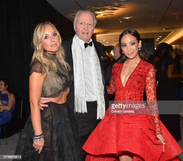 Skyler Shaye Jon Voight and Fiona Xie attend the 2019 InStyle and Warner Bros 76th Annual Golden Globe Awards PostParty at The Beverly Hilton Hotel...