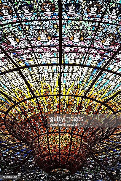 Skylight of the Palau de la Musica Catalana