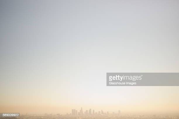 Skyline and Smog, Los Angeles, California, USA